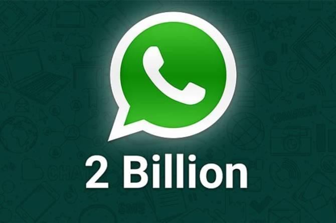 Whatsapp reaches new milestone as it has 2 billion users