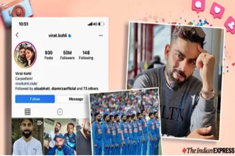 Virat kohli Instagram followers 50 million