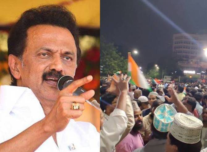 Washermanpet Anti CAA Protest MK Stalin condemns Police lathicharge against protesters