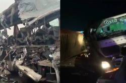 KSRTC bus met accident with Truck 17 dead