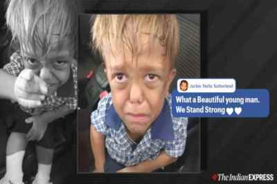 nine-year-old bullied, video of nine year old crying after getting bullied, hugh jackman, dwarfism, video of bullied boy, bullying in school, viral video, trending, indian express news