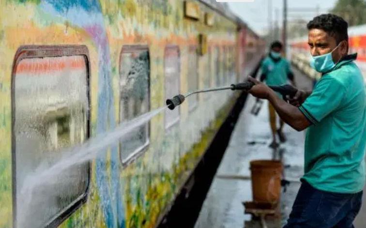 disinfecting trains, metro and buses, coronavirus