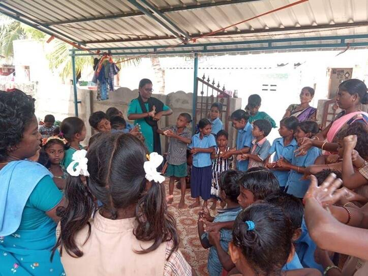 coronavirus outbreak nagapattinam vanavil school helps students to understand pandemic