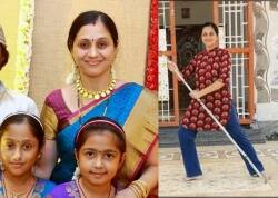 Coronavirus outbreak tamil heroine Devayani learns Silambam with her daughters
