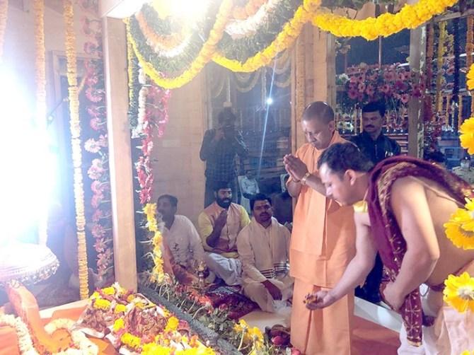 Uttar Pradesh CM Yogi Adityanath shifts Ram Idol amid corona crisis