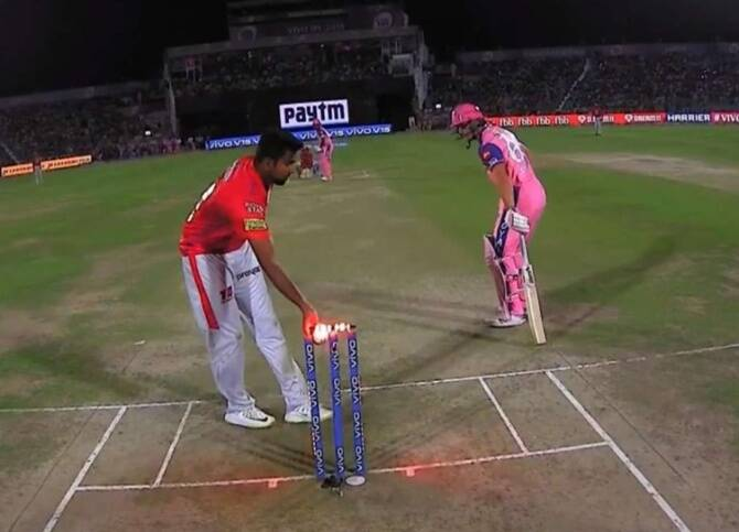 Ashwin's Mankad wicket compared with Corona
