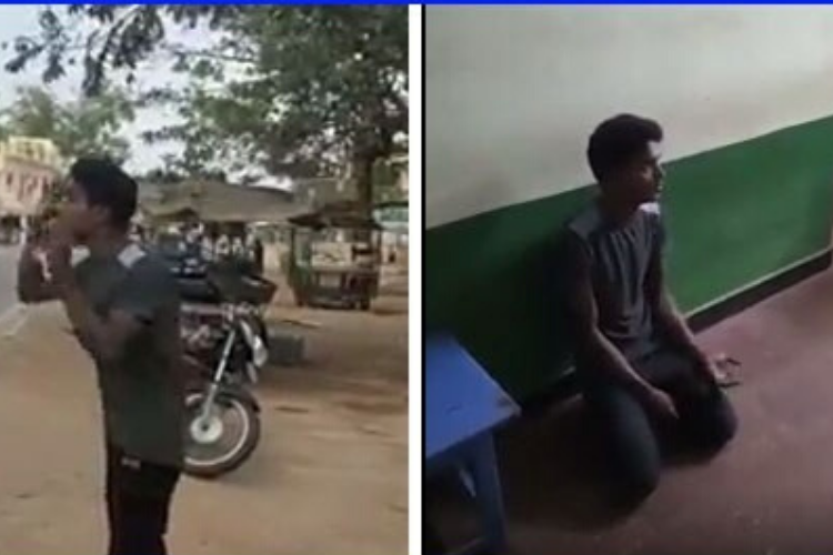Trending Viral video of Trichy youth calls CM to show him coronavirus