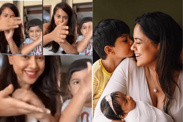 Coronavirus Outbreak : Actress Sameera Reddy gives awareness with her son Hans Varde