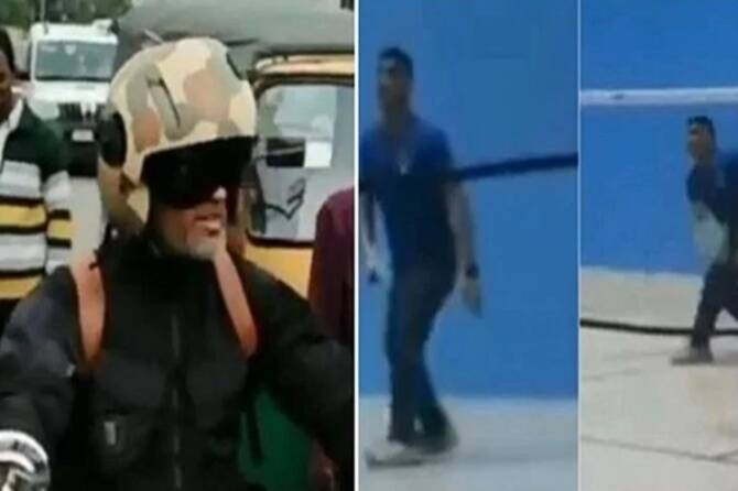 corona threat dhoni badminton video