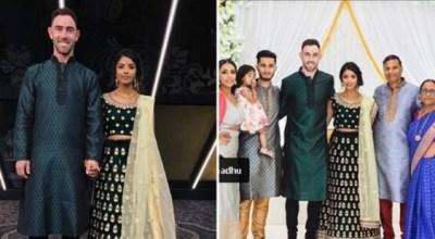 Glenn Maxwell's 'Indian engagement' with girlfriend Vini Raman