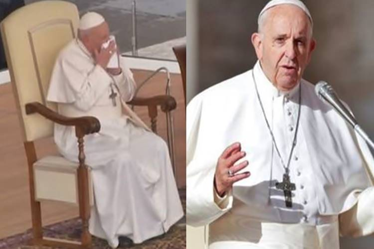 pope francis coughing and sneezing skips retreat italy coronavirus