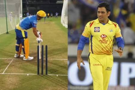 ipl 2020 csk dhoni chepauk warm up video