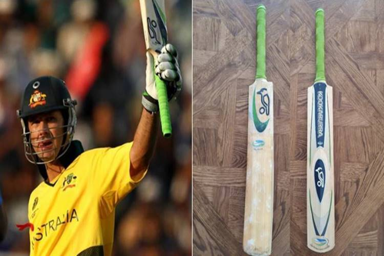 Ricky Ponting shares photo of World Cup 2003 final bat
