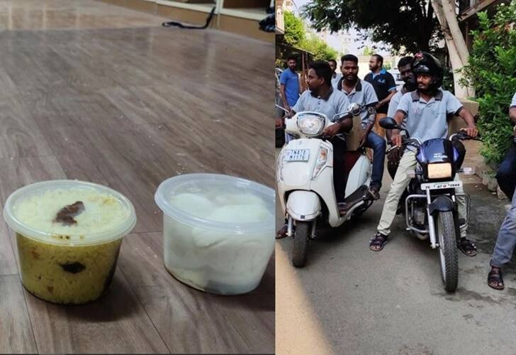 Coronavirus Janata Curfew Karur youths gave food and veggies to the locals