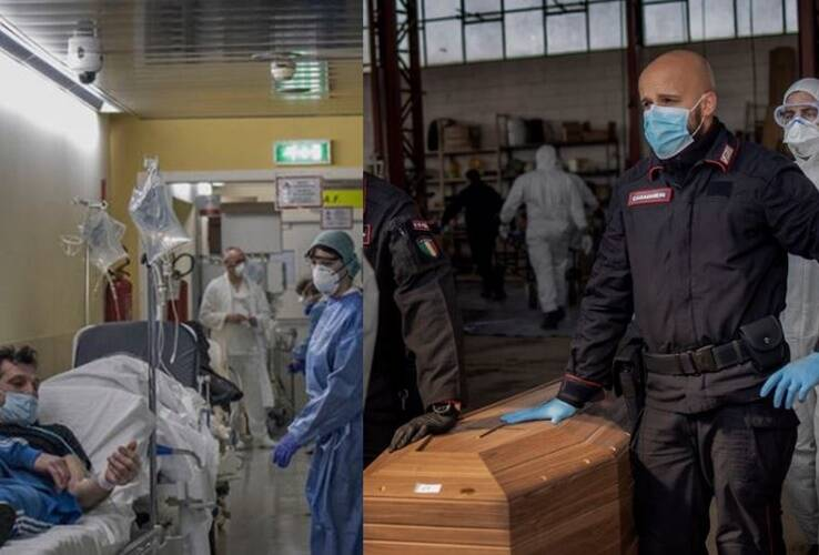 corona outbreak italy records more deaths than combined toll of China and Spain