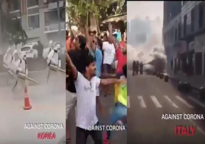 Trending viral video of indian celebrated quarantine