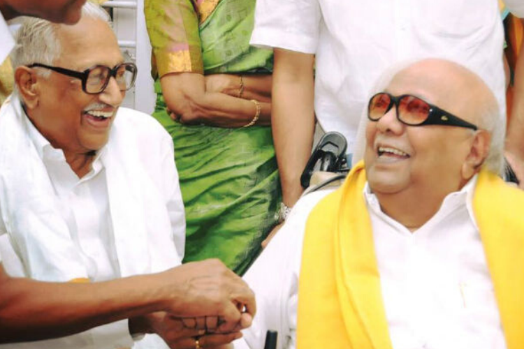 70 years friendship of Kalaignar Karunanidhi and perasiriyar K.anbazhagan