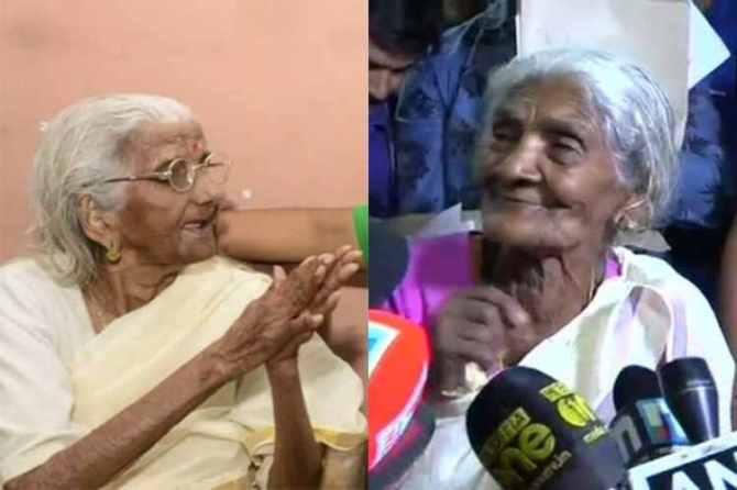 kerala, literacy, old women, president award, Ramnath kovind, chennai, rain water harvest, mylapore, voter id card, west bengal, PM Modi, jan dan yojana, bank accounts