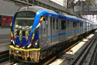 chennai, chennai metro, metro rail, new trains, washermanpet, thiruvottiyur, wimco nagar, cmrl, extension, traffic congestion