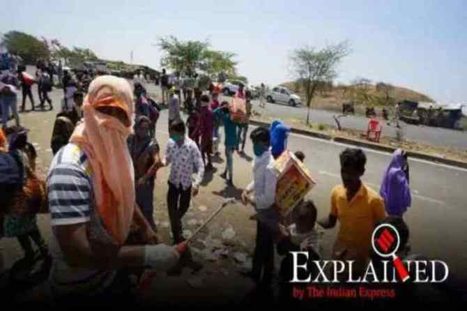 coronavirus india lockdown, bareilly migrants sprayed with chemicals, covid-19 lockdown, india migrants, migrants sprayed with disinfectants, bareilly migrant workers, indian express, corona test, ,coronavirus, coronavirus news, coronavirus tamil news, coronavirus tamil nadu news, coronavirus chennai news, coronavirus Tamil nadu, coronavirus outbreak