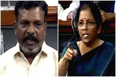 thirumavalavan, vck leader thirumavalavan, திருமாவளவன், நிர்மலா சீதாராமன், விசிக, thirumavalavan mp finance minister nirmala sitharaman, thirumavalavan vs nirmala between, thirumavalavan nirmala sitharaman debate in loksabha, jammu kashmir