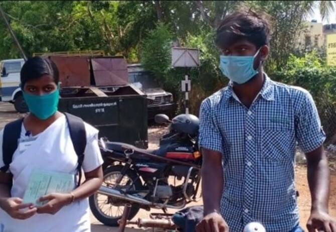 Brother pedaling bicycle 80 KM to bring his sister home in Madurai