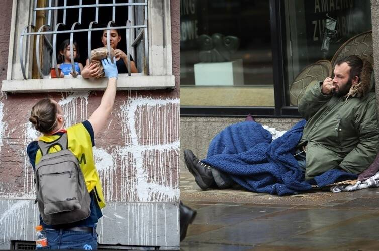 coronavirus Italy mafia gangs provide food to the poor by looting from shopping malls