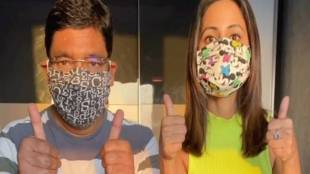 tv celebrity hina khan mask prepare tutorial covid 19