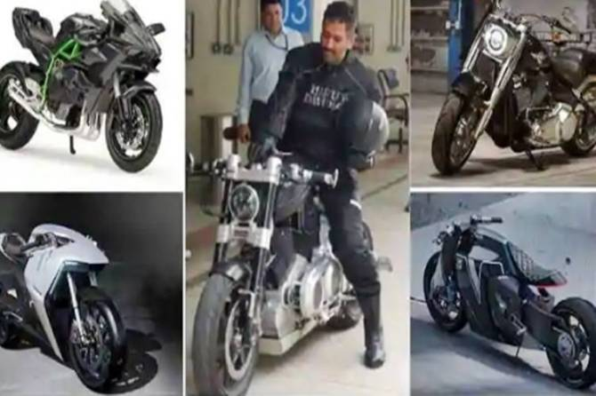 MS Dhoni's bike collections photos and videos