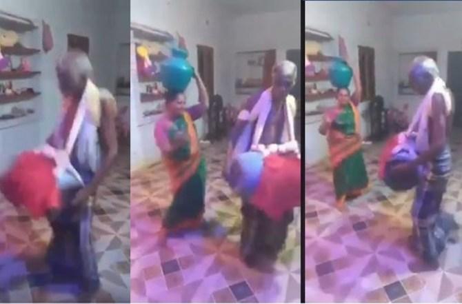 viral trending video of older couple dancing during 21 days lockdown