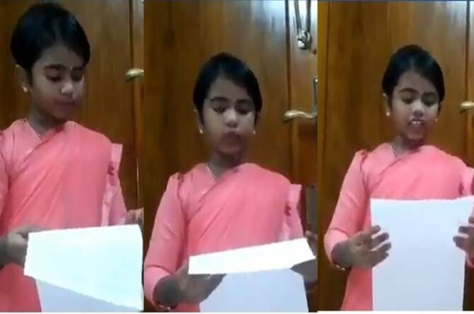 Trending viral video of kid reading pandemic status as TN health secretariat Beela Rajesh