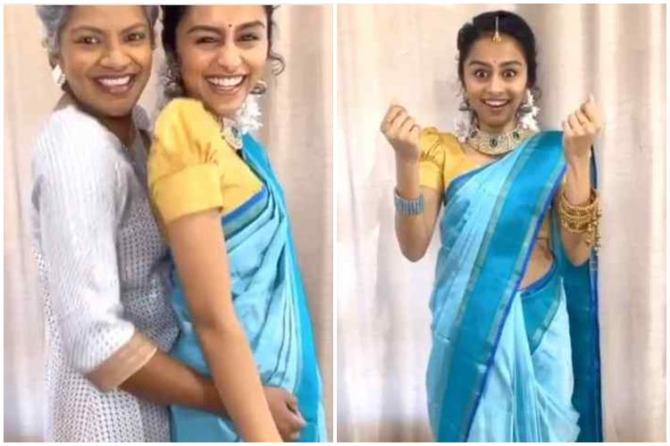 vijay tv super singer fame singer pragathi guru dance, பாடகி பிரகதி, பிரகதி குரு நடனம், வைரல் வீடியோ, viral video, pragathi and her mummy dance for vaathi coming song, pragathi guru dance viral video