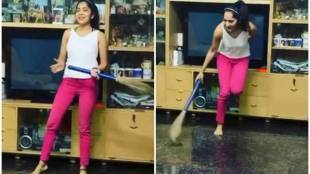 ramya vj, vj ramya dance, ramya dance for vaathi coming song, ரம்யா டான்ஸ், வாத்தி கமிங், வைரல் வீடியோ, ramya sweeping home and dancing viral video, ramya dance viral video, coronavirus, lock down, covid-19