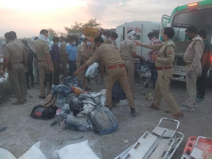 24 migrants killed, 37 injured in truck accident in Auraiya, Uttar Pradesh