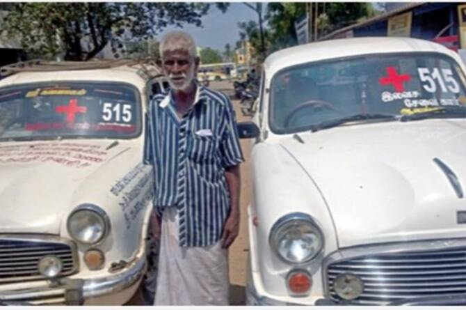 68 years old man drives car for poor and needy people for free amid coronavirus