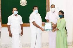CM Edappadi Palanisamy gives Rs 2 lakhs to Student Abhinaya for her NASA visit