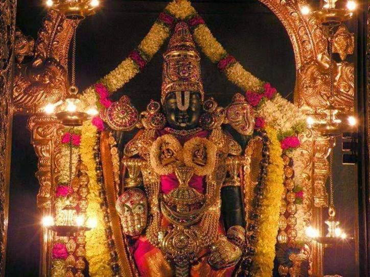Tirumala Tirupati devotees in the long queue to get special food offerings