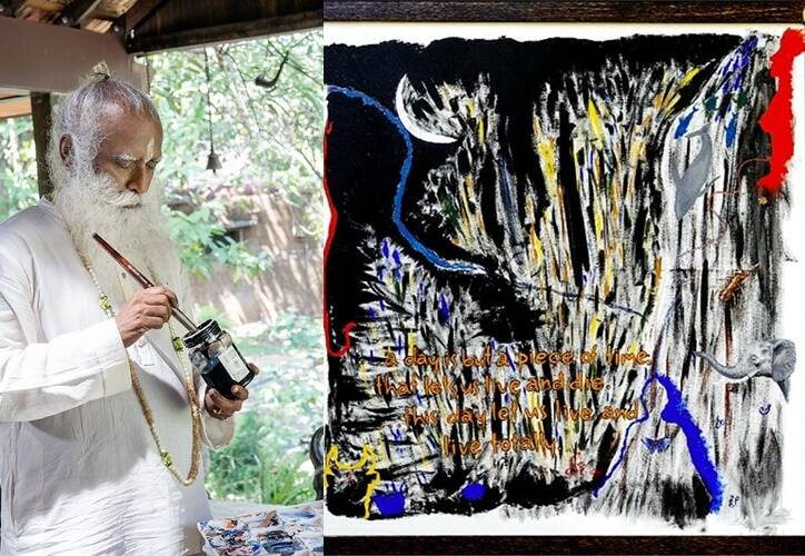 Isha founder Sadhguru's painting sold for Rs 4.14 crores