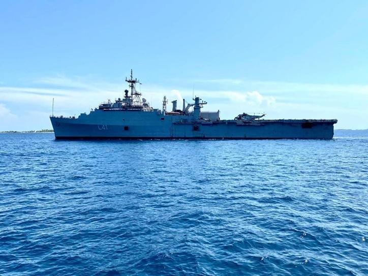 Operation Samudra Setu : INS Jalashwa entered Male port to repatriate Indians from Maldives