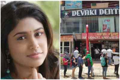 actress manisha yadav tweets criticise, women standing in ques at wine shops, women standing in ques before wine shops, மனிஷா யாதவ், மதுக்கடையில் வரிசையில் நின்ற பெண்கள், பெங்களூரு, ladies standing before wine shops for buying liquor, liquor shops, ladies in bangalore wine shops, tasmac will open tomorrow in tamil nadu, tamil viral news