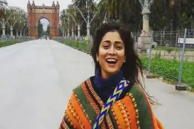 Shriya saran rainy dance, mazhai tamil movie song