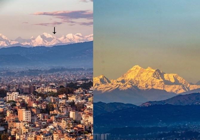 Mount Everest became visible in Kathmandu after coronavirus lockdown imposed