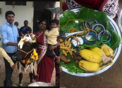 Tuticorin farmer did baby shower for a cow