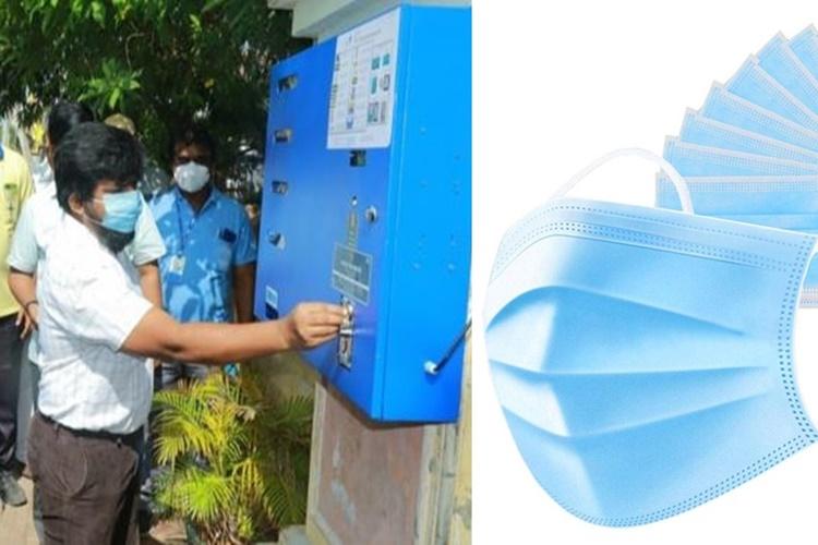 Mask Vending Machine introduced in Tuticorin