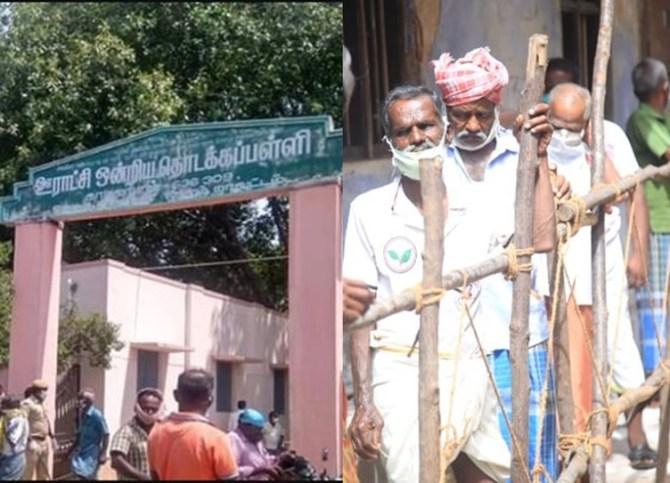 TASMAC Reopen Salem Omalur school had been used to distribute liquor token