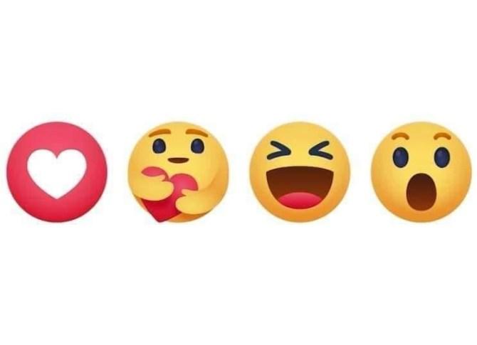 Facebook 7th reaction emoji care emoji added in FB