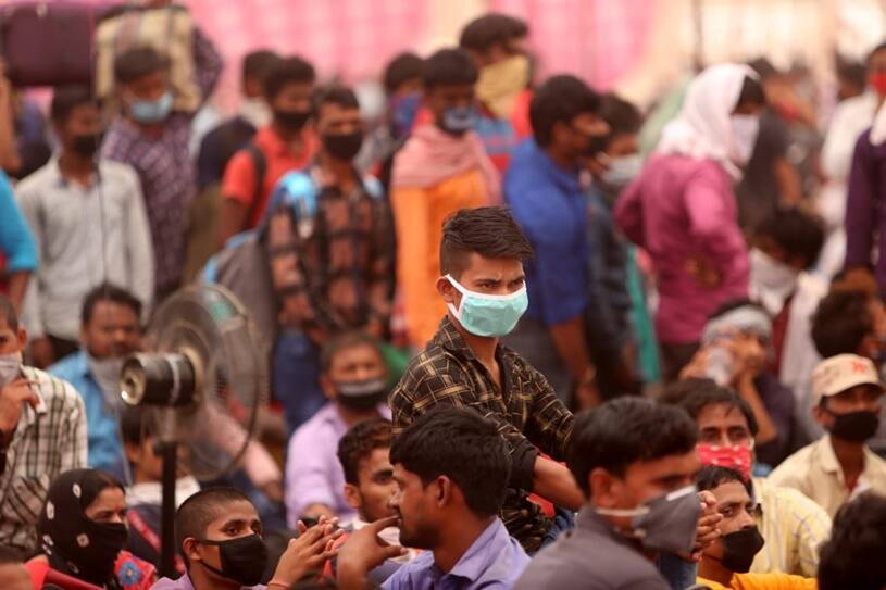 coronavirus lockdown migrant crisis Indian express special photo gallery