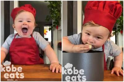 kobe eats, kobe eats cute child chef, child chef kobe, child chef kobe cooking video, kobe cooking viral video, கோப் ஈட்ஸ், குழந்தை கோப் சமைக்கும் வீடியோ, குட்டி செஃப் கோப், வைரல் வீடியோ, kobe viral video, latest viral news, latest video news, latest viral video, latest videon news in tamil, latest tamil nadu news, latest tamil news