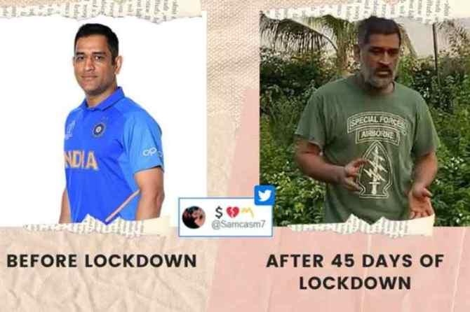 ms dhoni new look, ms dhoni recent pictures, ms dhoni, ms dhoni ziva playing video, நரைத்த தாடியுடன் தோனி, தோனி மீம்ஸ், தோனி, தோனி மகள் ஜிவா, வைரல் வீடியோ, ziva dhoni playing video, ms dhoni beard look, ms dhoni old look, ms dhoni memes, latest desi memes, viral news, lockdown memes, tamil indian express