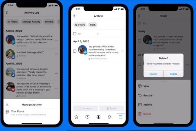 Facebook's Manage Activity tab helps to delete all your awkward posts and photos